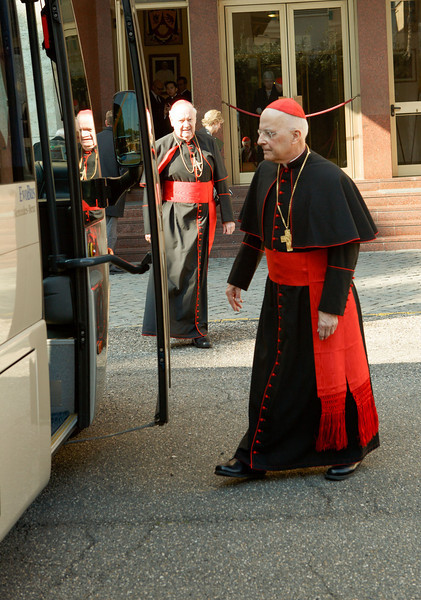 Cardinals depart for meeting with the Holy Father